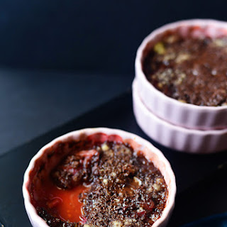 Dark Chocolate Rhubarb Crumble Recipe