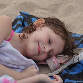 Take me to the Sand by Ashley Ellis - Babies & Children Children Candids ( beach child sand sleep smile )