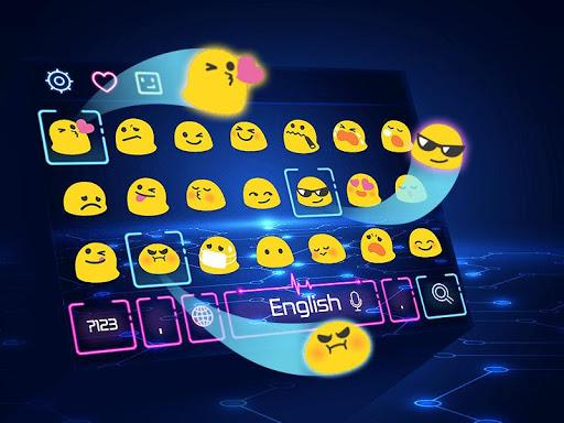 Neon Keyboard Theme 10001005 screenshots 4