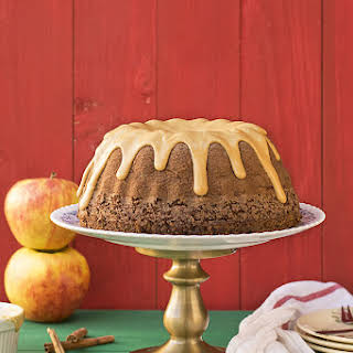 Olive Oil, Apple & Cocoa Cake With Caramelized White Chocolate.