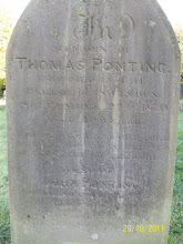 Photo: 22-Thomas Ponting, died September 22nd 1870, aged 19 yearsJohn Ponting, died January 6 [1873?] [aged 90 years]