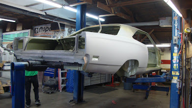 Photo: First chance to get a good look at the new project. Mounting on the rotissorie made for B -Bodies was a snap.
