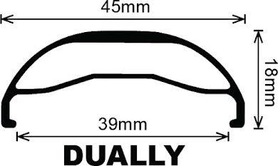 "Velocity Dually 45mm 29"" Rim alternate image 1"