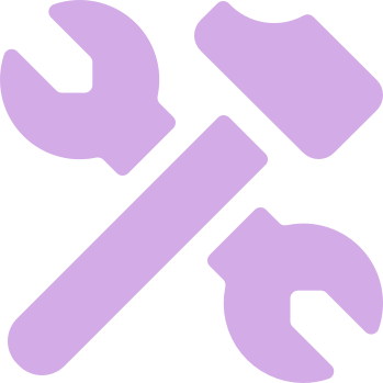 A hammer and a wrench crossing one another
