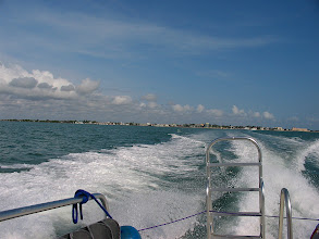Photo: on the boat to Spanish Lokout Caye