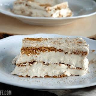 Pumpkin Spice Eclair Cake.
