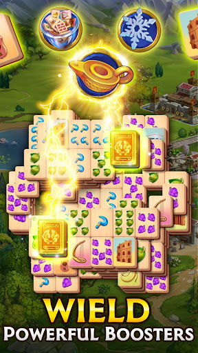 Emperor of Mahjong: Match tiles & restore a city apktreat screenshots 2