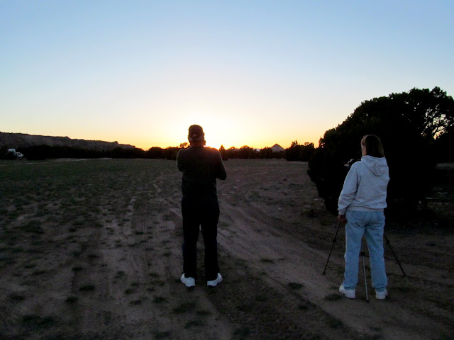 Ken and Jan shooting the sunset