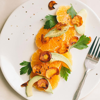 Clementine, Avocado and Crispy Carrot Salad