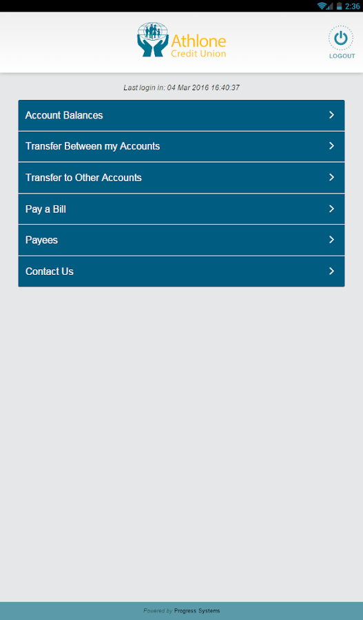 Athlone Credit Union- screenshot
