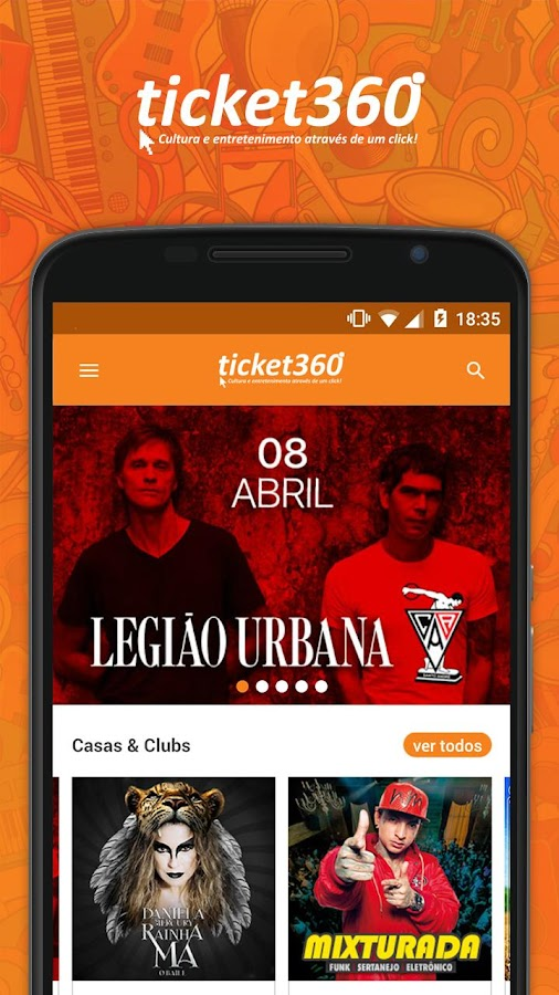 Ticket360: captura de tela