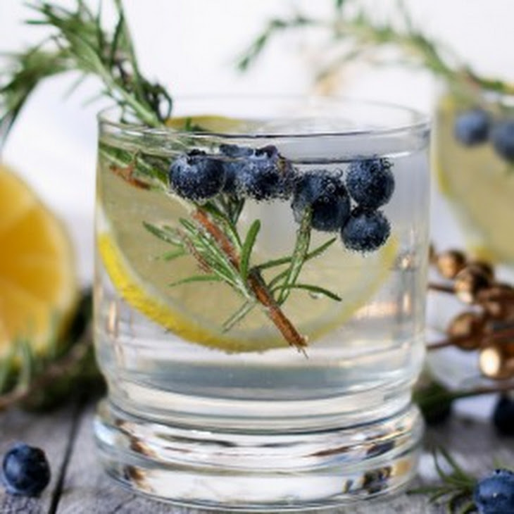 Lemon Blueberry Vodka Spritzer