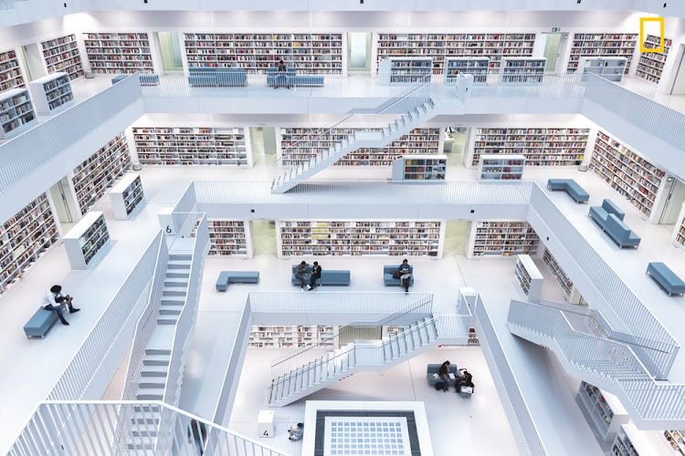 'Levels of reading', depicting the modern interiors of the city library in Stuttgart, Germany, took 1st Place in the Cities Category.