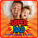 Happy Father's Day photo frame 2021 icon