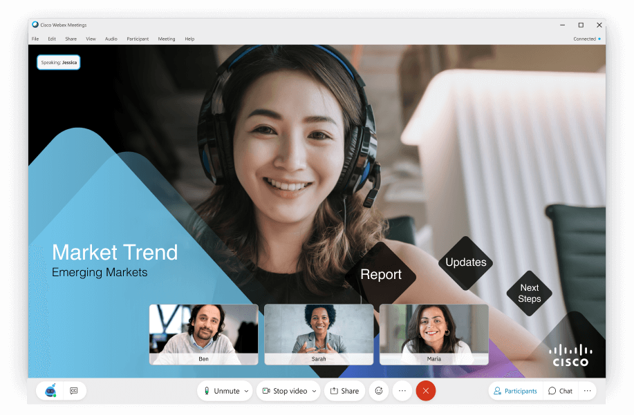 Learn more about how Prezi Video and Webex are working together to bring more engagement to hybrid enterprises.