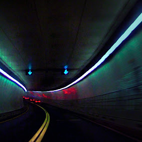 Baltimore Tunnel by William Schmid - City,  Street & Park  Street Scenes
