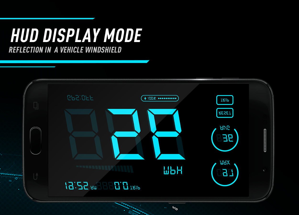 Hud Speedometer - Car Speed Limit App with GPS — приложение на Android