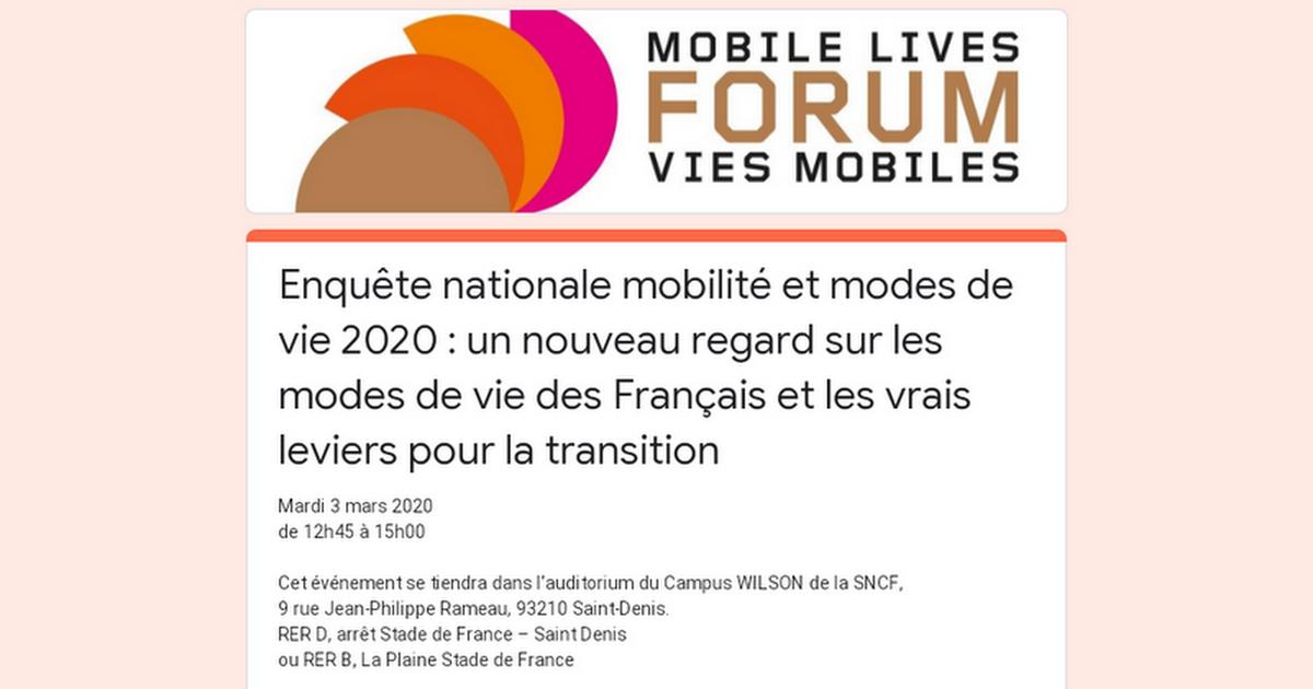 Enquête nationale mobilité et modes de vie 2020 : un nouveau regard sur les modes de vie des Français et les vrais leviers pour la transition