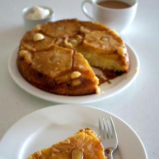 Pineapple Rum Macadamia Upside Down Cake