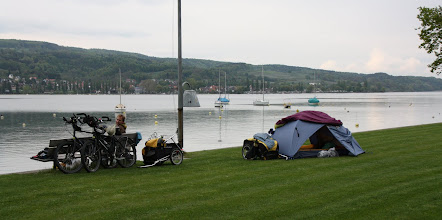 Photo: Day 33 - The Camp Site at Mammern on the Edge of Lake Zellersee