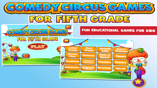 Circus Grade 5 Learning Games