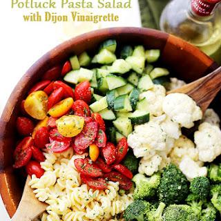Potluck Pasta Salad with Dijon Vinaigrette