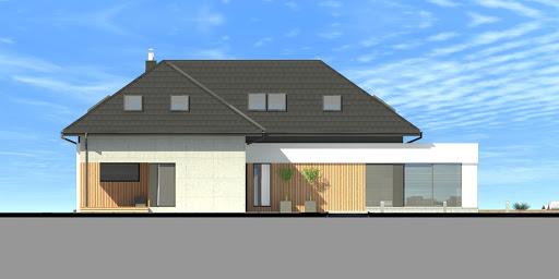 New House 7 - Elewacja tylna