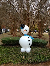 Photo: snowman with black hat