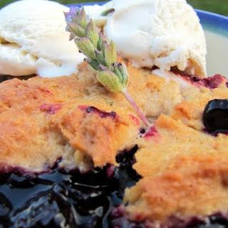 Gluten-Free Blueberry and Lavender Cobbler.