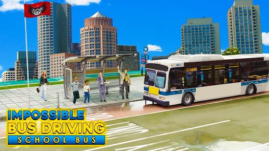 Download Impossible Bus Driving : School Bus Simulator For PC Windows and Mac apk screenshot 2