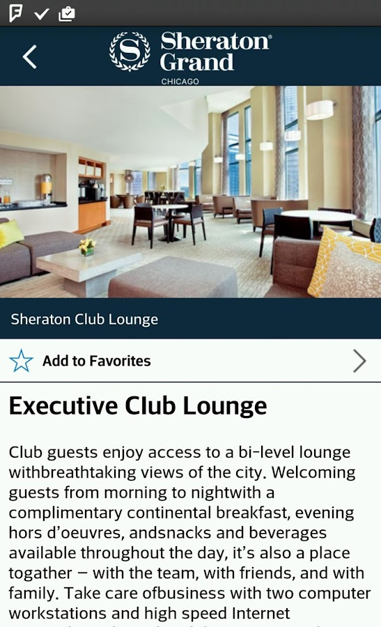 Sheraton Grand Chicago- screenshot