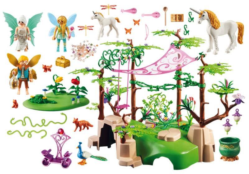 Contenido real de Playmobil® 9132 Bosque Mágico de las Hadas