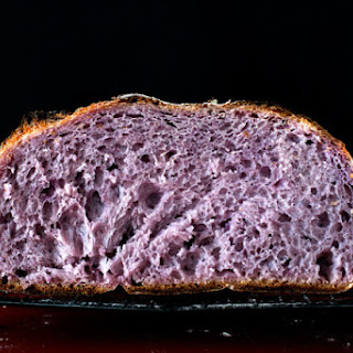 THE BLUSHING BOULE (PURPLE YAM COUNTRY BREAD).
