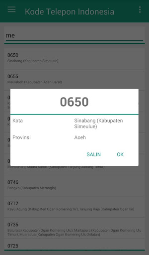Screenshot 4 Kode Telepon Indonesia