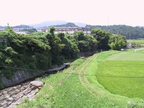 Photo: 青木ヶ瀬橋より山内小学校