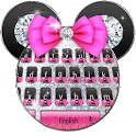 Shine Pink diamond minny keyboard icon