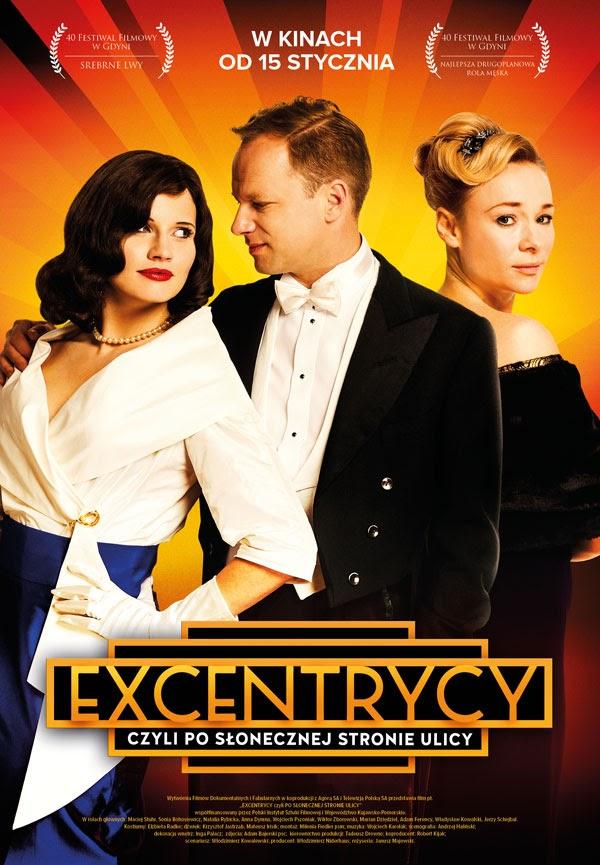 Polski plakat filmu 'Excentrycy, Czyli Po Słonecznej Stronie Ulicy'