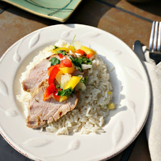 Grilled Jerk Pork Tenderloin with Pineapple Salsa