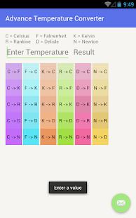 Advance Temperature Converter screenshot