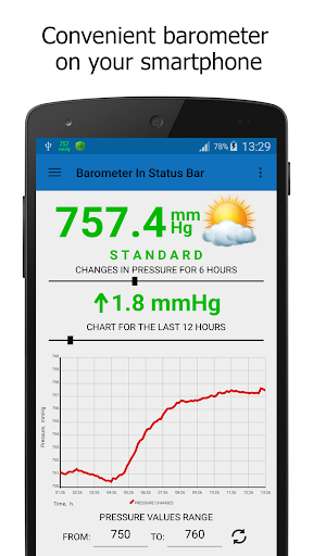 Barometer In Status Bar Lite 2.1.0 screenshots 1