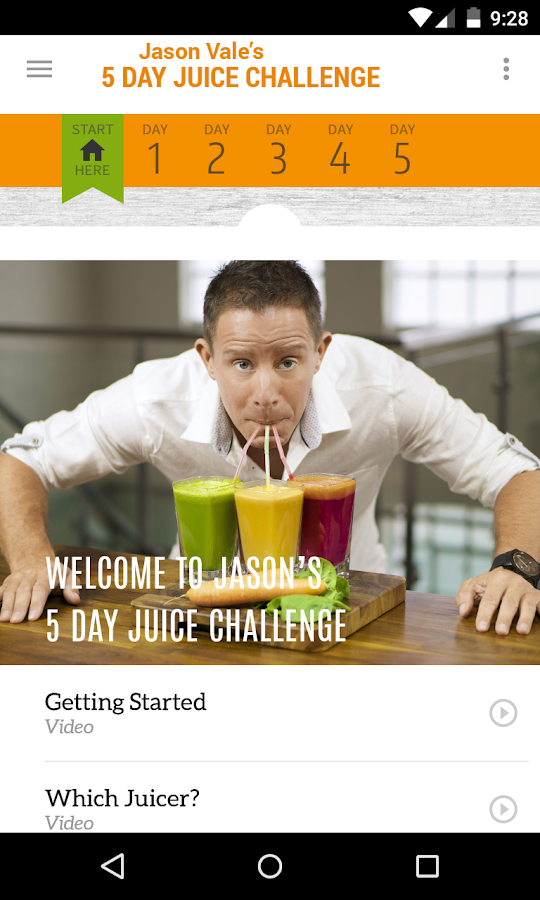 Jason's 5-Day Juice Challenge- screenshot