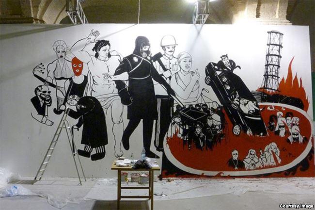 На картині «Коліївщина. Страшний суд» – чорнобильський реактор, зґвалтована у Врадіївці жінка, брехливі судді та продажні священики