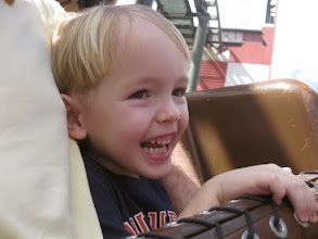 Photo: Day 2 - Riding the Barnstormer. He looks like this the whole ride whether this coaster or the 7 Dwarfs Mine Train or The Big Thunder Mountain Railroad :-)