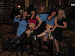 Photo: Showing some trekkie leg... would you pick us up hitch-hiking?