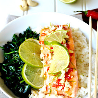 Thai Sweet Chili Salmon with Cashews