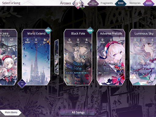 Arcaea - New Dimension Rhythm Game 3.0.1 screenshots 13