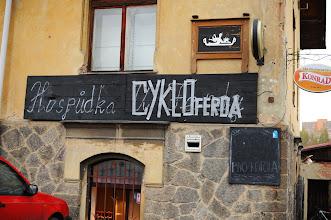 Photo: Našim cílem byla hospůdka CYKLOferda ve Vratislavicích nad Nisou www.cykloferda.cz  Autor: Milan Körber