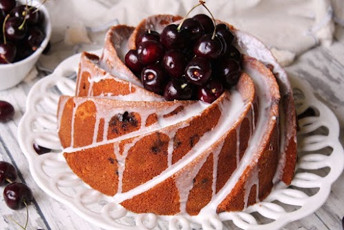 Cherry Amaretto Bundt Cake