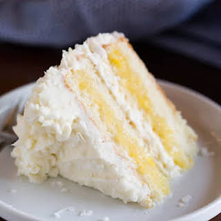 Coconut Cake with Pineapple Filling.