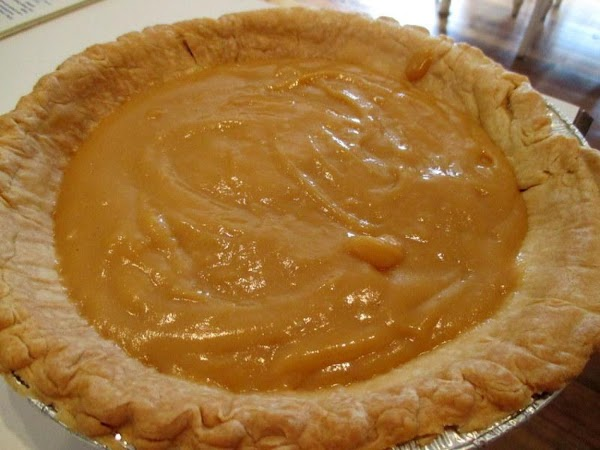 Pour caramel mixture into baked pie crust. You can make meringue with the left...